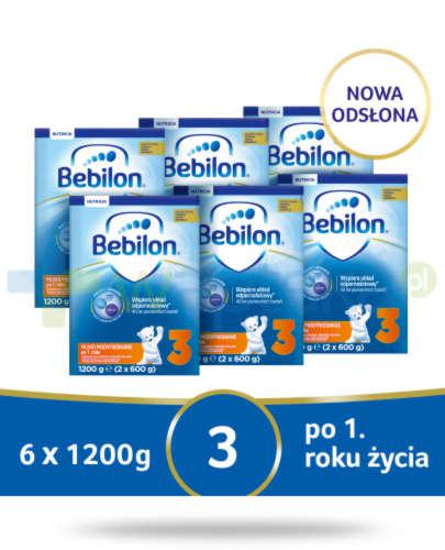 Bebilon 3 Pronutra-Advance mleko modyfikowane po 1. roku 6x 1200 g [SZEŚCIOPAK]