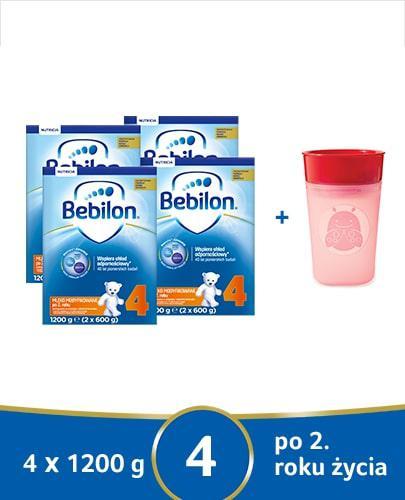 Bebilon 4 Pronutra-Advance mleko modyfikowane po 2. roku 4x 1200 g [CZTEROPAK] + Mustela Solaires krem ochronny do twarzy SPF50+ 40 ml [GRATIS]