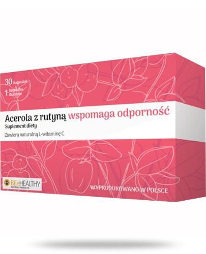 BEeHEALTHY Acerola z rutyną wspomaga odporność 30 kapsułek