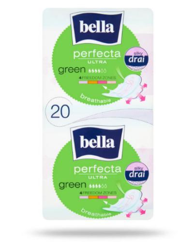Bella Perfecta Ultra Green podpaski supercienkie z osłonkami bocznymi 20 sztuk