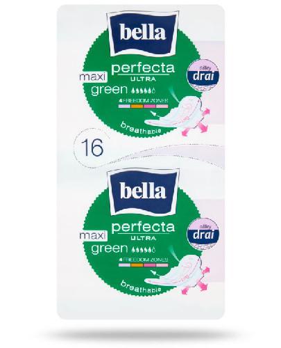 Bella Perfecta Ultra Maxi Green wydłużone podpaski supercienkie z osłonkami bocznymi 16 sztuk