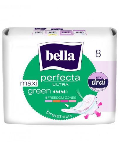 Bella Perfecta Ultra Maxi Green wydłużone podpaski supercienkie z osłonkami bocznymi 8 sztuk