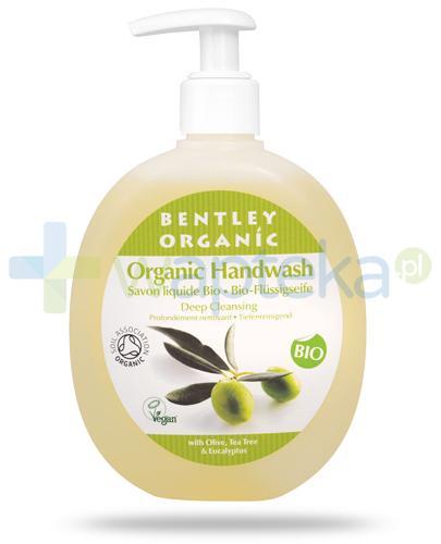 Bentley Organic głęboko oczyszczające mydło w płynie z oliwką, olejem herbacianym i eukaliptusemi 250 ml