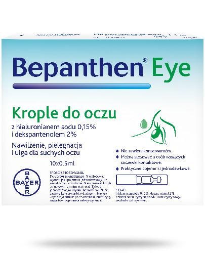 Bepanthen Eye krople do oczu 10x 0,5 ml