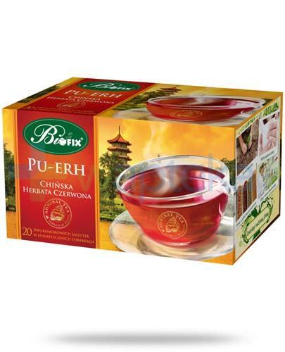 BiFix Pu-Erh chińska herbata czerwona 20 saszetek