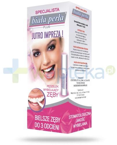 Biała Perła Plus Jutro Impreza żel wybielający zęby z aplikatorem 8 ml