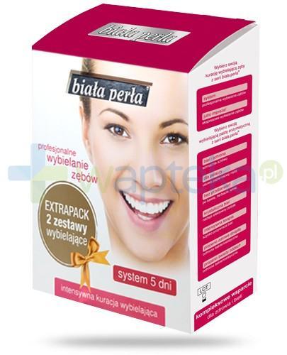 Biała Perła system profesjonalnie wybielający zęby w 5 dni ExtraPack 2 zestawy wybielające
