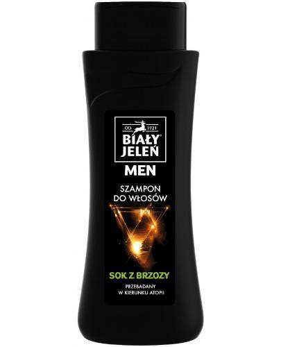 Biały Jeleń For Men łagodzący szampon tonizujący z sokiem z brzozy do skóry wrażliwej 300 ml