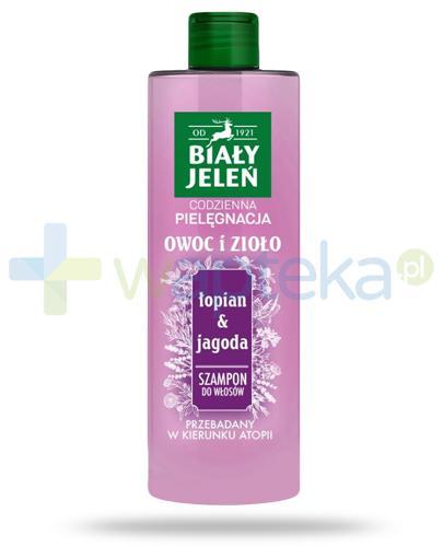 Biały Jeleń Owoc i Zioło szampon do włosów łopian & jagoda 400 ml