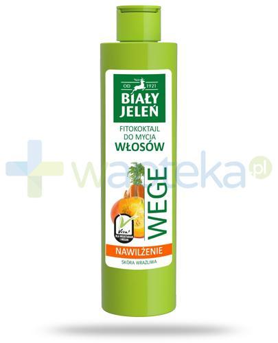 Biały Jeleń Wege Nawilżenie Fitokoktajl do mycia włosów marchew i dynia 250 ml