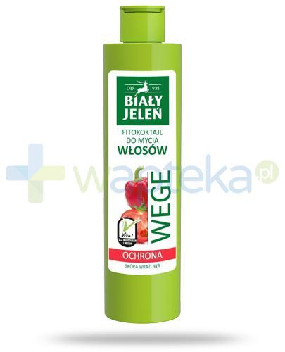 Biały Jeleń Wege Ochrona Fitokoktajl do mycia włosów pomidor i papryka 250 ml