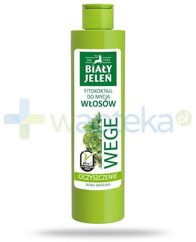 Biały Jeleń Wege Oczyszczenie Fitokoktajl do mycia włosów pietruszka i karczoch 250 ml