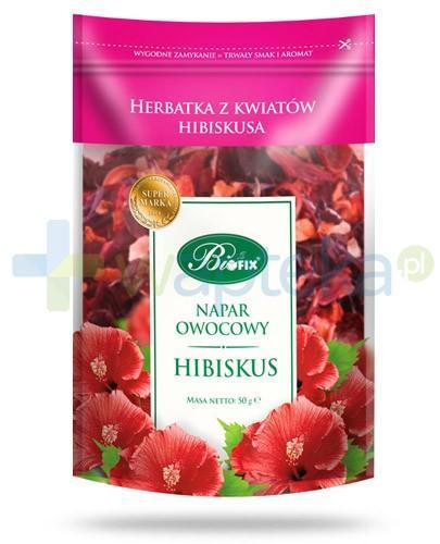 BiFIX Hibiskus napar owocowy herbatka z kwiatów hibiskusa 50 g