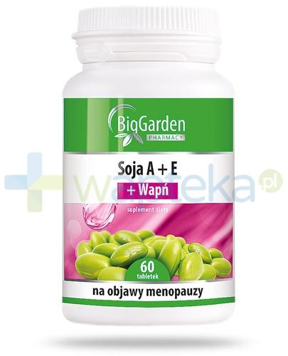 BigGarden Soja A+E + Wapń 60 tabletek