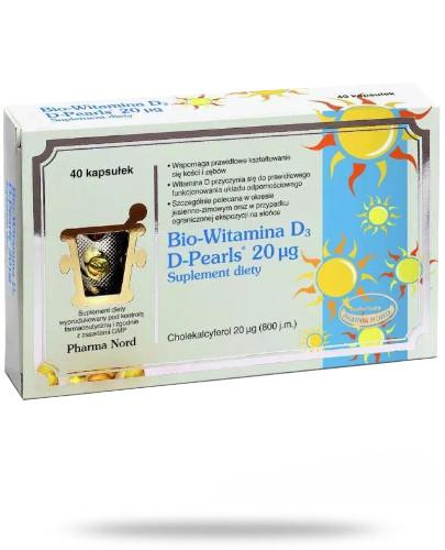 Bio-Witamina D3 Pearls 40 kapsułek