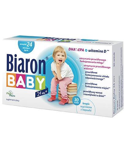 Bioaron Baby 24m+ DHA + EPA + witamina D 30 kapsułek