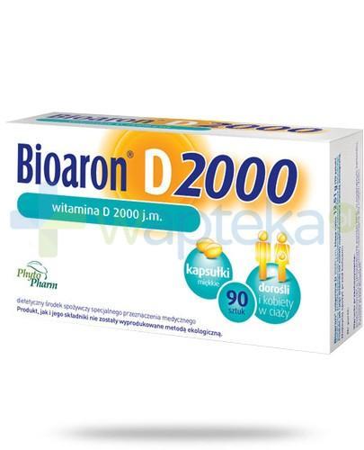 Bioaron witamina D 2000j.m. 90 kapsułek - Data ważności 31-12-2017
