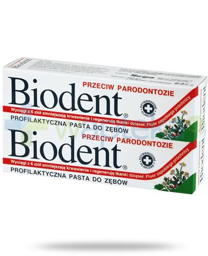 Biodent pasta do zębów przeciw paradontozie 2x 75 g [DWUPAK]