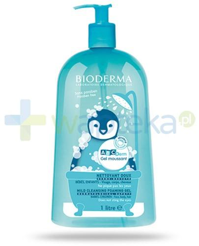 Bioderma ABCDerm Moussant delikatny żel myjący do twarzy, ciała i włosów 1000 ml