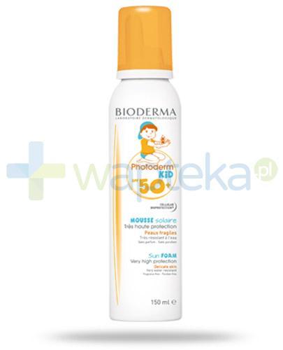 Bioderma Photoderm Kid Mousse SPF50+ ochronna pianka dla dzieci 150 ml [Data ważności 31-03-2018]