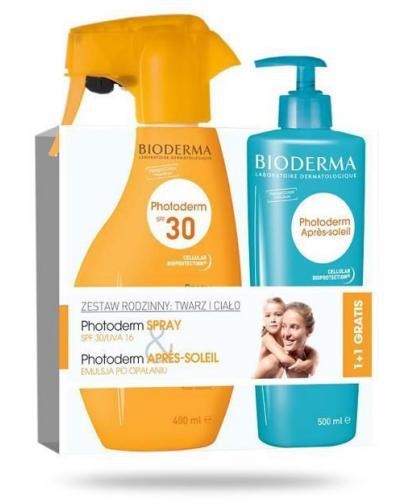 Bioderma Photoderm Spray SPF30 spray ochronny 400 ml + Bioderma Photoderm Apres-Soleil emulsja po opalaniu 500 ml [ZESTAW]
