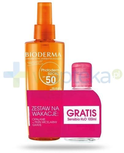 Bioderma ZESTAW Photoderm Bronze Brume SPF30 UVA13 olejek ochronny przyspieszający opalanie 200 ml + Bioderma Sensibio H20 płyn micelarny 100 ml