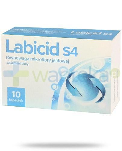 Labicid S4 równowaga mikroflory jelitowej 10 kapsułek - Data ważności 31-05-2017 WYPRZEDAŻ