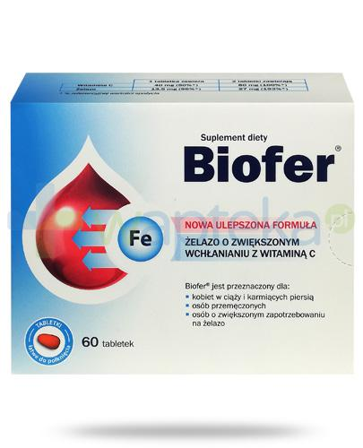 Biofer żelazo z witaminą C 60 tabletek