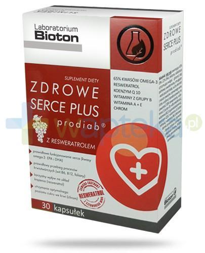 Bioton Zdrowe Serce Plus prodiab z resweratrolem 30 kapsułek