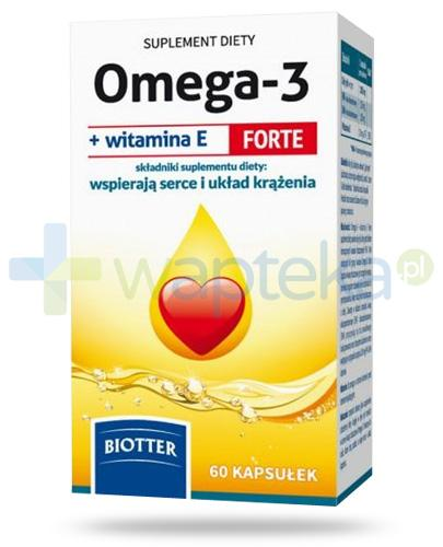 Biotter Omega-3 + witamina E Forte 60 kapsułek