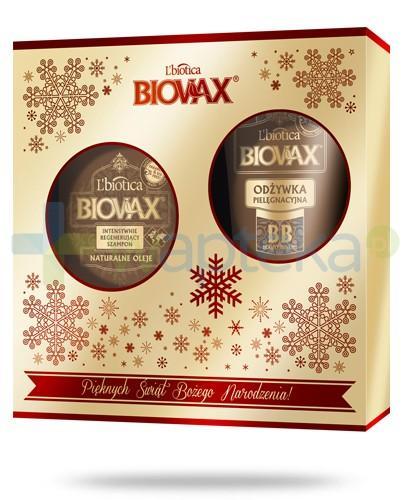 Biovax Argan Makadamia Kokos ZESTAW szampon intensywnie regenerujący 200 ml + odżywka pielęgnacyjna BB 200 ml + serum wzmacniajace do włosów A+E 15 ml