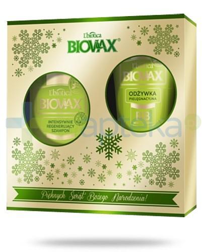 Biovax Bambus Avocado ZESTAW szampon intensywnie regenerujący 200 ml + odżywka pielęgnacyjna BB 200 ml + serum wzmacniajace do włosów A+E 15 ml