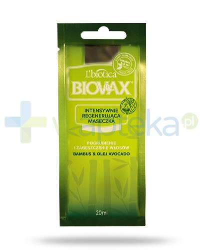Biovax Bambus & Olej Avocado maska intensywnie regenerująca 20 ml