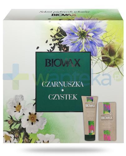 Biovax Botanic Czarnuszka Czystek, odżywka ekspresowa 7w1 200 ml + micelarny szampon oczyszczający 200 ml + maska intensywnie regenerująca do włosów 20 ml [ZESTAW]