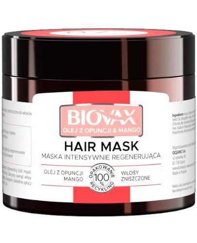 Biovax Opuntia Oil & Mango maska intensywnie regenerująca 250 ml