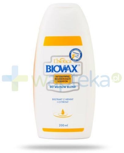Biovax szampon intensywnie regenerujący do włosów blond 200 ml
