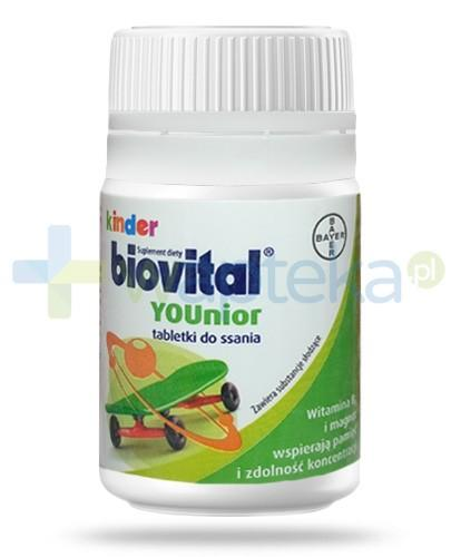 Biovital Kinder YOUnior witamina B6 i magnez 30 tabletek do ssania