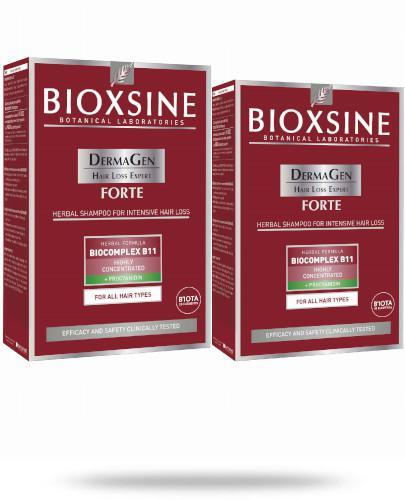 Bioxsine DermaGen Forte ziołowy szampon zapobiegający silnemu wypadaniu włosów 2x 300 ml [DWUPAK]