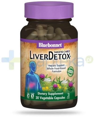 Bluebonnet Nutrition Liver Detox, formuła wspomagająca oczyszczanie wątroby, 30 wegańskich kapsułek [Data ważności 31-07-2020]