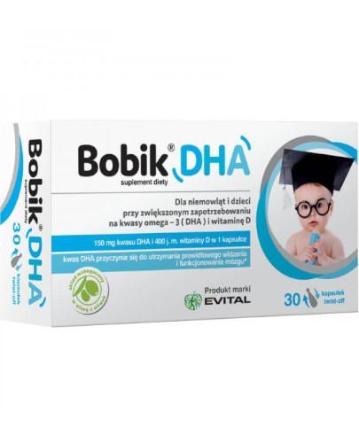 Bobik DHA witamina D3 30 kapsułek - Data ważności 31-03-2017