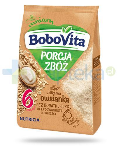 BoboVita Porcja zbóż bezmleczna delikatna kaszka owsianka dla dzieci 6m+ 170 g