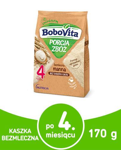BoboVita Porcja zbóż bezmleczna kaszka manna dla dzieci 4m+ 210 g