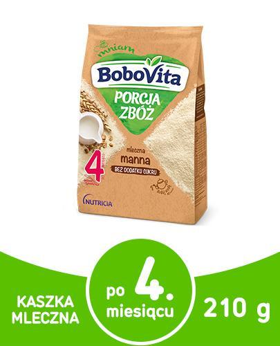 BoboVita Porcja zbóż mleczna kaszka manna dla dzieci 4m+ 210 g