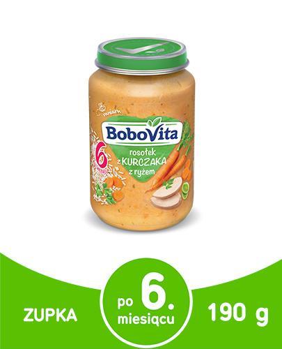 BoboVita rosołek z kurczaka z ryżem po 6 miesiącu 190 g