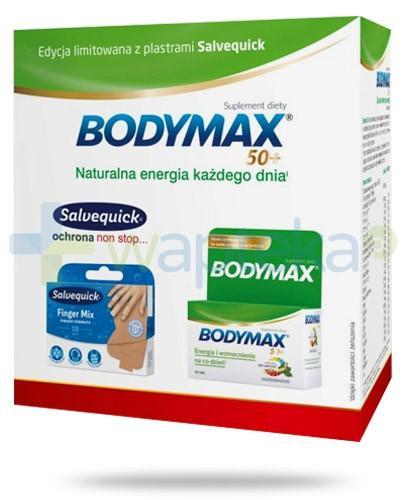 Bodymax 50+ 60 tabletek + Salvequick Finger Mix plastry na palce dłoni 18 sztuk