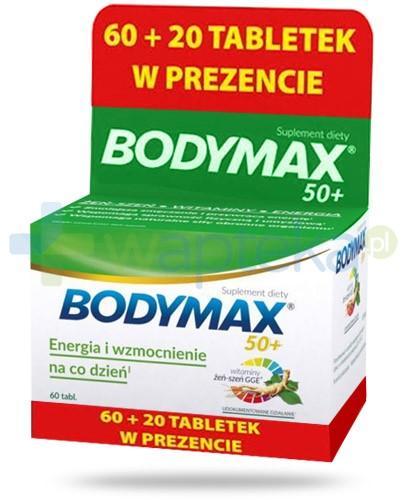Bodymax 50+ wyciąg z żeń-szenia GGE + witaminy 60 tabletek + 20 tabletek w prezencie