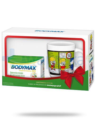 Bodymax 50+ wyciąg z żeń-szenia GGE + witaminy 60 tabletek + kubek od andrzejrysuje.pl [ZESTAW]