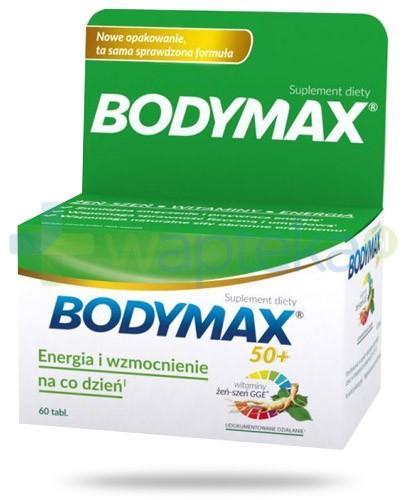 Bodymax 50+ wyciąg z żeń-szenia GGE + witaminy 60 tabletek
