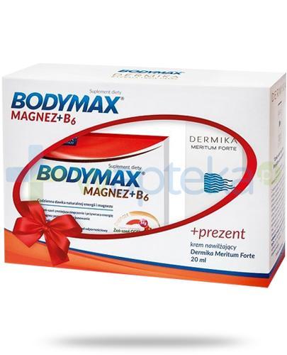 Bodymax Magnez + B6 60 tabletek + Dermika Meritum Forte krem nawilżający 20 ml [ZESTAW]