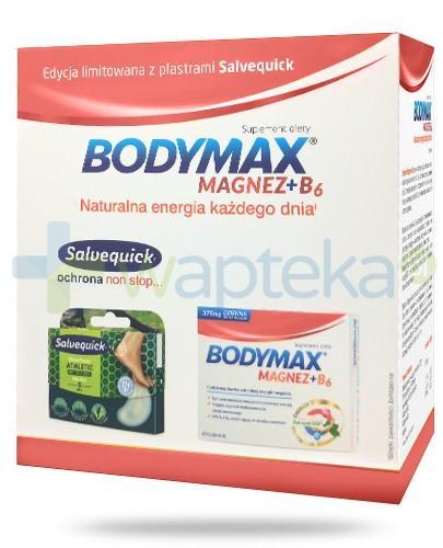 Bodymax Magnez + B6 60 tabletek + Salvequick Athletic blister na pęcherze z AloeVera 5 sztuk